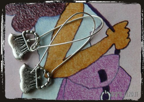 orecchini borsa