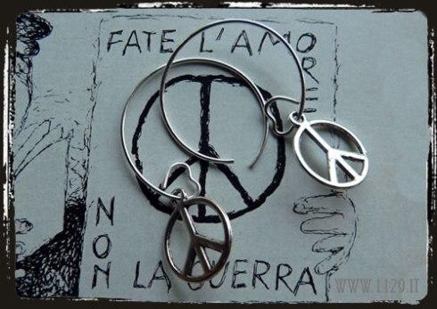 orecchini pace e amore