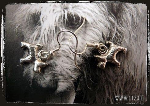 orecchini charm cane