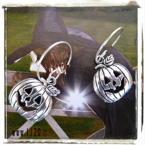 orecchini-charm-zucca-halloween-carved pumpkin-earrings