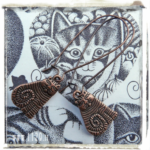 orecchini-charm-gatto-rame-copper-cat-earrings