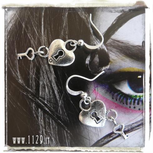 orecchini-charm-lucchetto-cuore heart lock key
