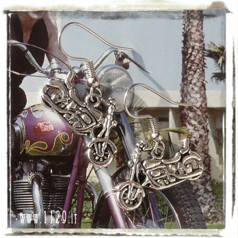 orecchini-charm-motocicletta bike earrings 15x25