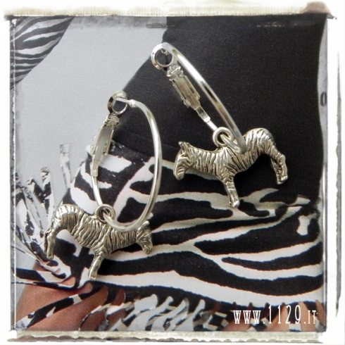 orecchini-charm-zebra-22x16-earrings