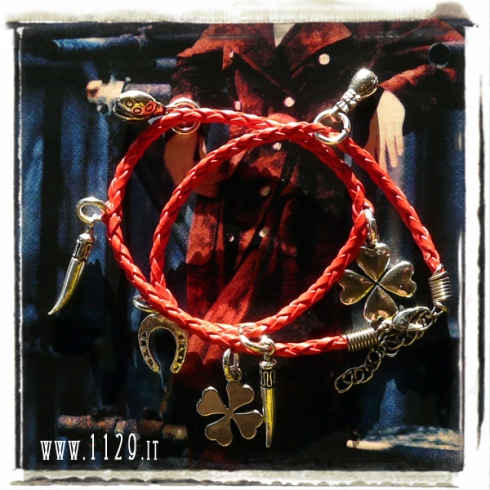 bracciale doppio charm porta fortuna lucky charms bracelet 1129