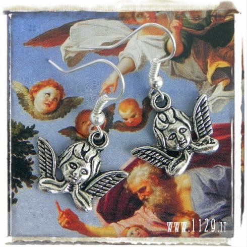 orecchini charm angelo natale cherubino earrings