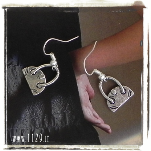 orecchini charm borsetta borsa earrings