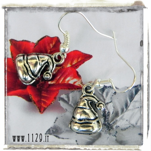 orecchini charm cappello babbo natale earrings 16x11