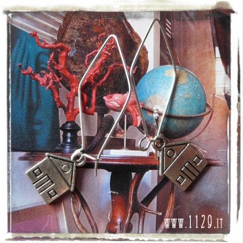 orecchini charm casa house earrings 16x13mm