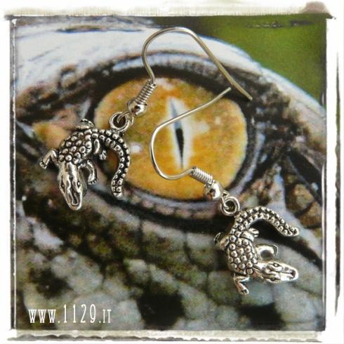 orecchini charm coccodrillo 28x25 earrings
