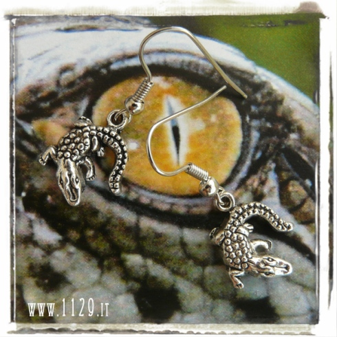 orecchini charm coccodrillo 28x25 earrings