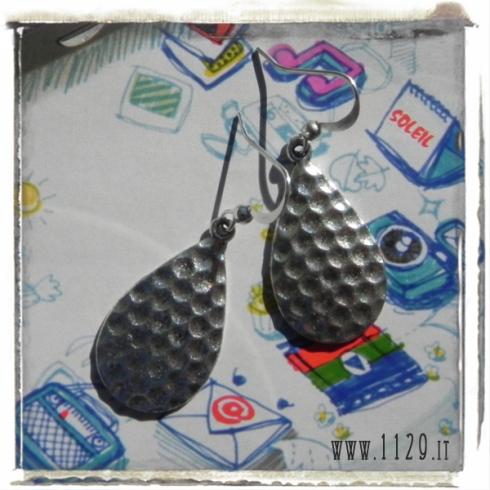 orecchini charm goccia 30x18 earrings