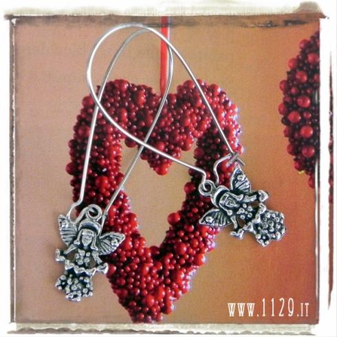 orecchini-charm-angelo-cuori-natale-angel-xmas-earrings 20x14 mm