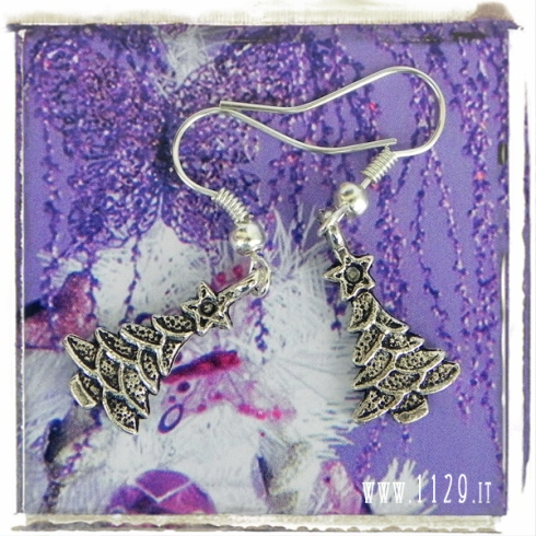 orecchini-charms-albero-natale-christmas-tree-charms-earrings 25x15 mm