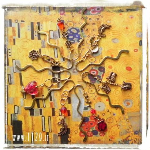 segnalibro-oro-rosso-natale-regalo-ciondoli-charms bookmarks