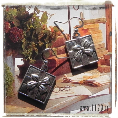 orecchini ciondolo pacco regalo fiocco gift box charms earrings 1129