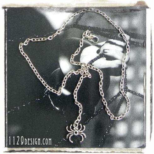 girocollo argento ragno spider silver fashion necklace 1129design