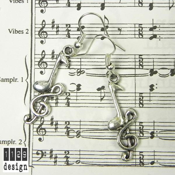 Chiave di violino e nota musicale orecchini con charms - Immagini violino a colori ...